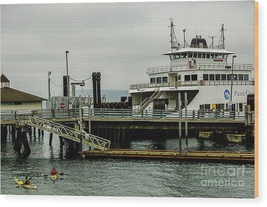 Steilacoom Ferry,washington State Wood Print