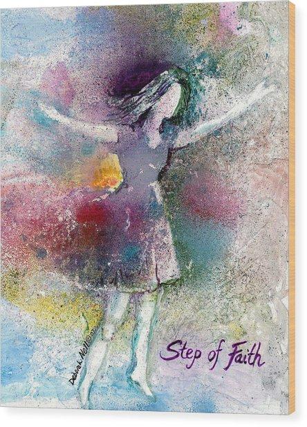Step Of Faith Wood Print