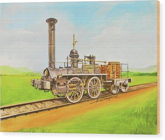 Steam Engine Mississippi Wood Print