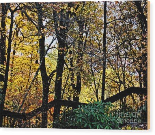 Steps Wood Print by Beebe  Barksdale-Bruner