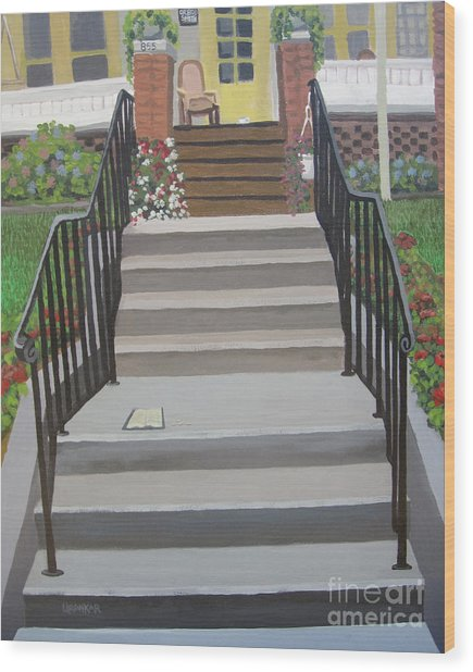 Steps To Recovery Wood Print by Lisa Urankar