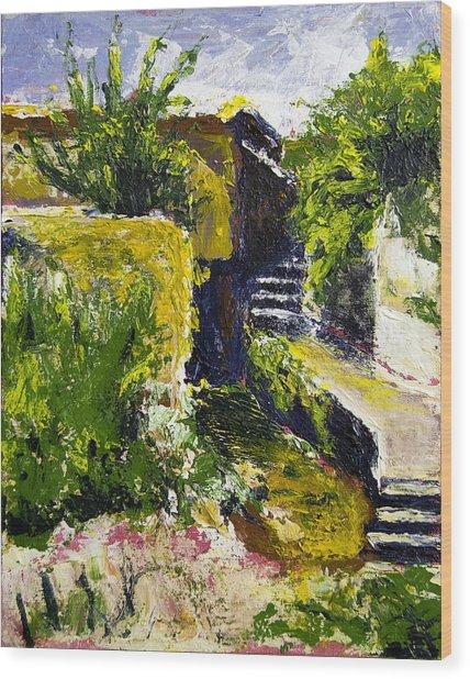Steps To San Martin Wood Print by Robert Sako
