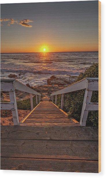 Steps To The Sun  Wood Print