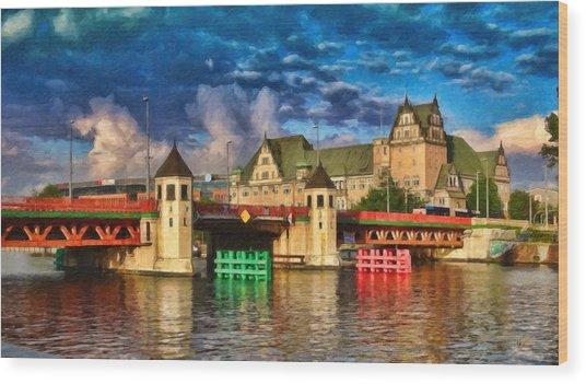 Stettin Bridge - Pol890431 Wood Print