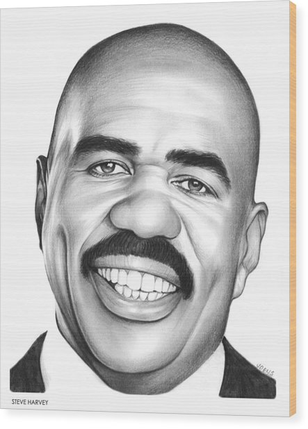 Steve Harvey Wood Print