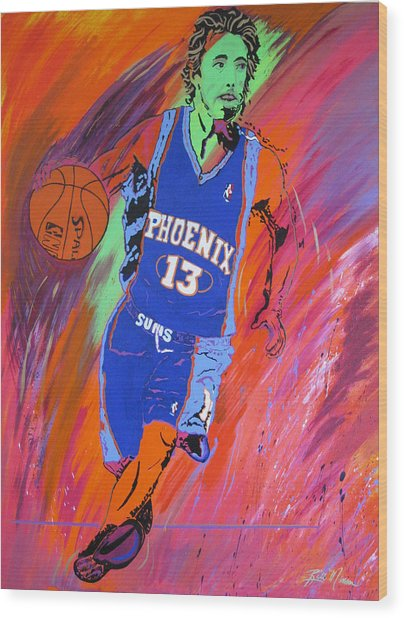 Steve Nash-vision Of Scoring Wood Print