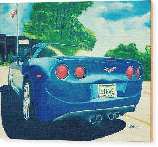 Steve's Corvette Wood Print