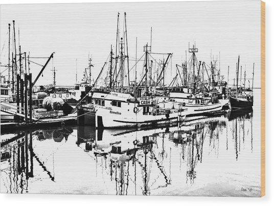 Steveston Harbor Wood Print