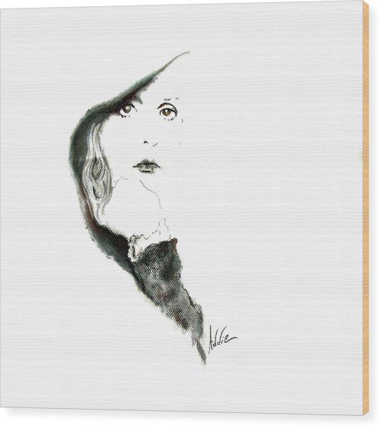Stevie Nicks Wood Print by Addie Coppola