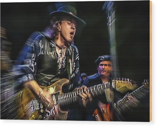 Stevie Ray Vaughan - Couldn't Stand The Weather Wood Print