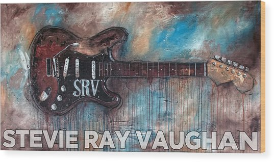Stevie Ray Vaughan Double Trouble Wood Print