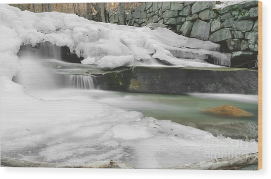 Stickney Brook Falls Wood Print