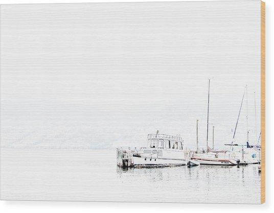 Still Harbour Wood Print