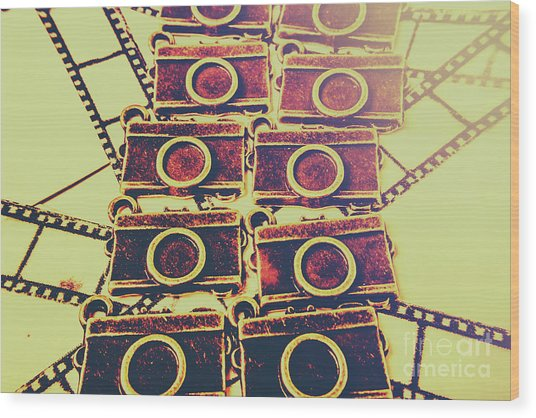 Still In Film Wood Print