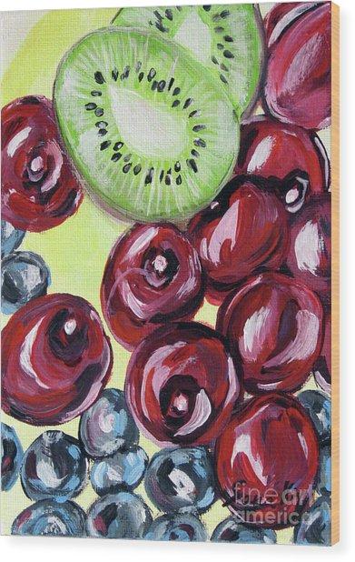 Still Life 130. Cherries Wood Print