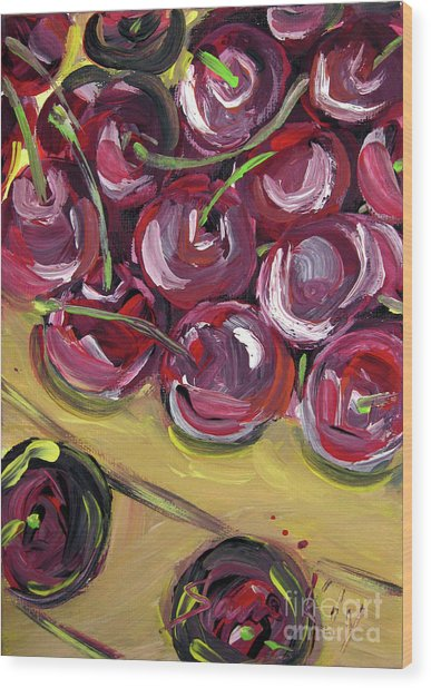 Still Life 135. Cherries Wood Print