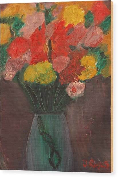 Flowers Still Life Wood Print