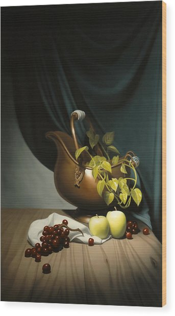 Still Life Painting Zanndam Evening Wood Print by Eric Bossik