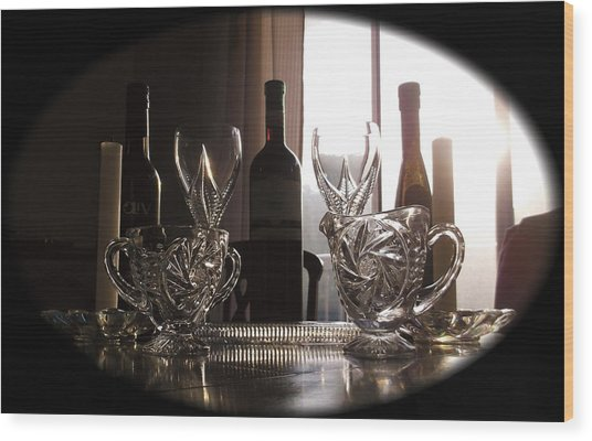 Still Life - The Crystal Elegance Experience Wood Print