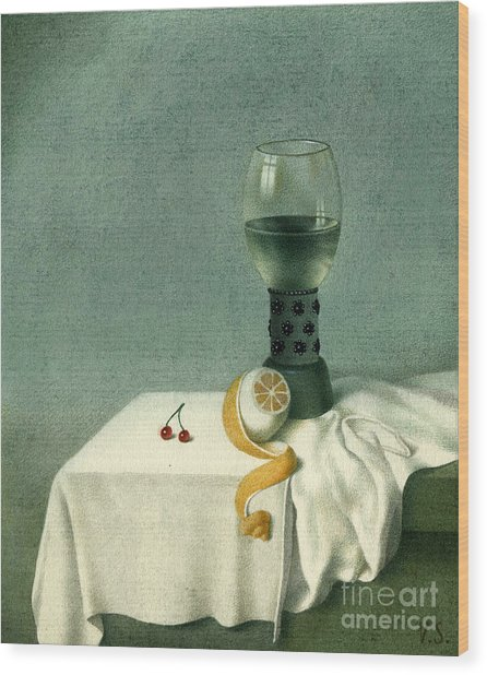 Still Life With A Goblet Wood Print