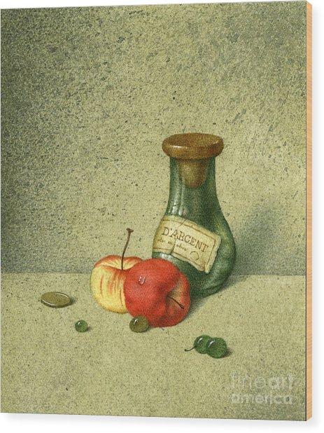 Still Life With A Small Jar Wood Print