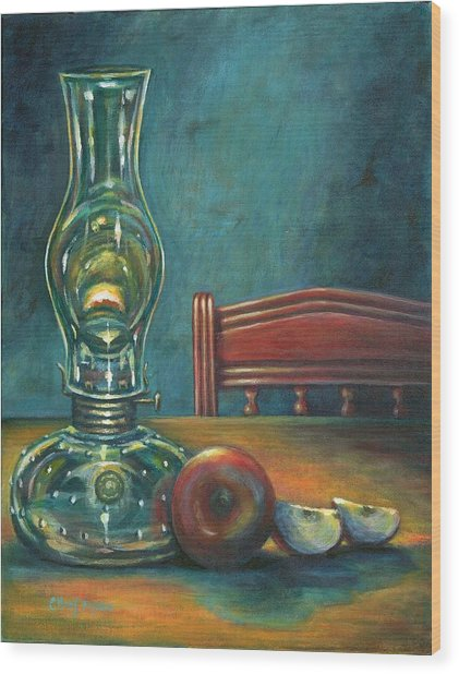 Still Life With Apples Wood Print by Colleen  Maas-Pastore