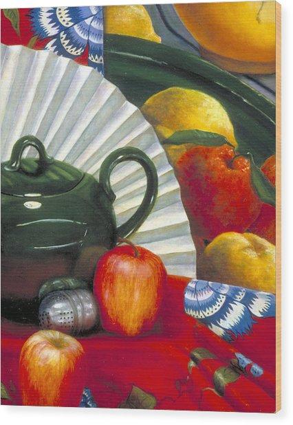 Still Life With Citrus Still Life Wood Print by Nancy  Ethiel