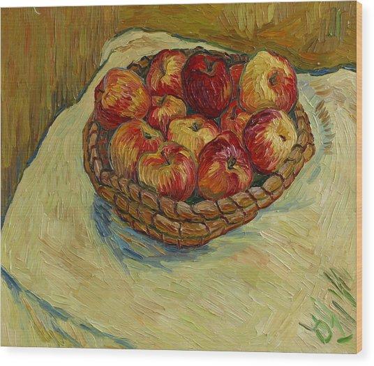 Still Life With Moravian Apples Wood Print by Vitali Komarov