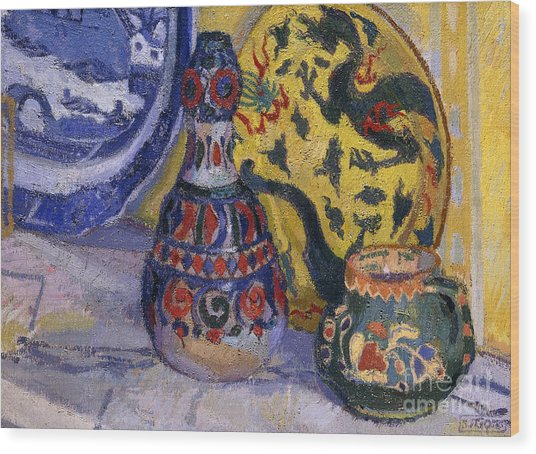 Still Life With Oriental Figures, 1913  Wood Print