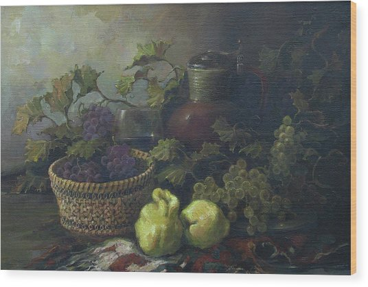 Still-life With Quinces Wood Print