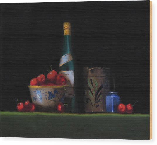 Still Life With The Alsace Jug Wood Print