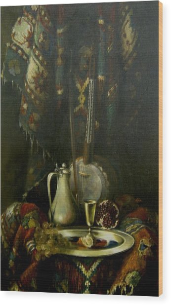 Still-life With The Kamancha Wood Print