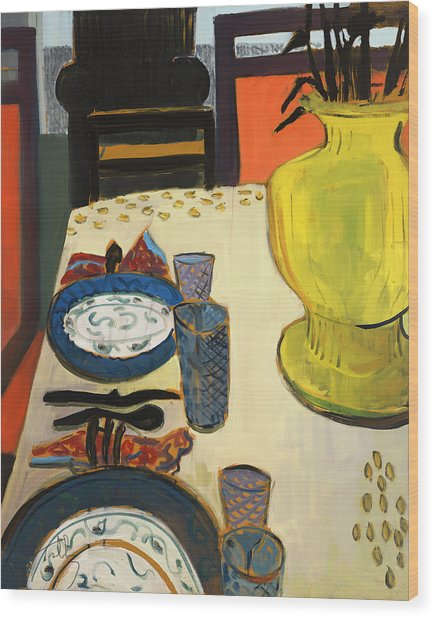 Still Life With Two Plates Wood Print