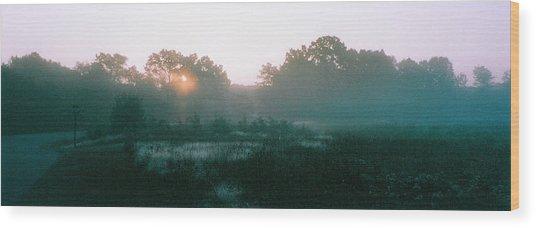 Still Mist Wood Print by Tom Hefko