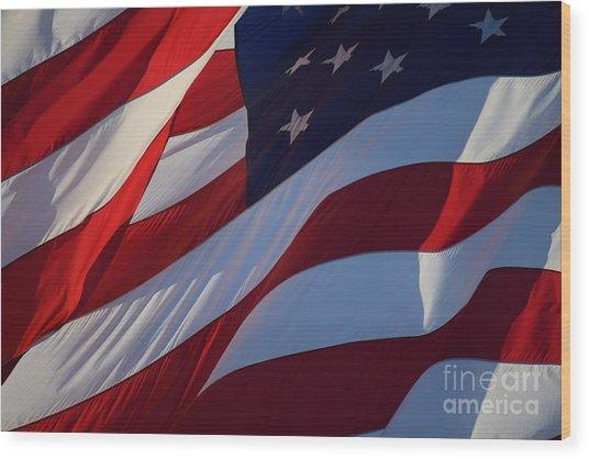 Still Our Flag. Wood Print