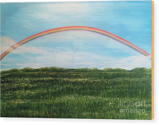 Still Searching For Somewhere Over The Rainbow? Wood Print
