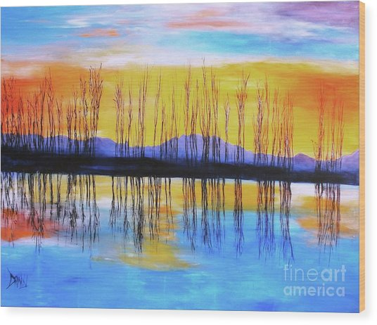 Still Waters From The Water Series  Wood Print