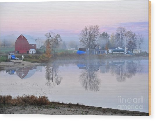 Still Waters On Stoneledge Lake Wood Print