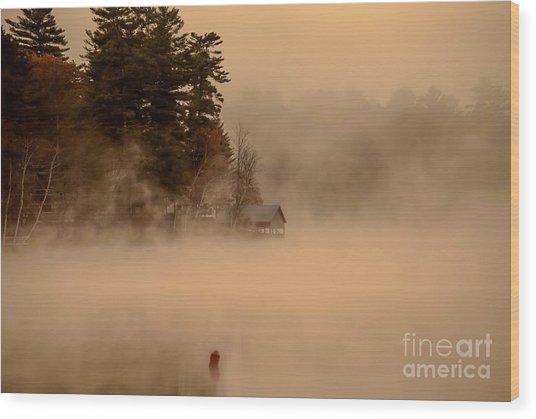 Stillness Of Autumn Wood Print