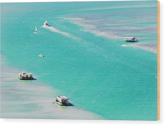 Stiltsville Wood Print