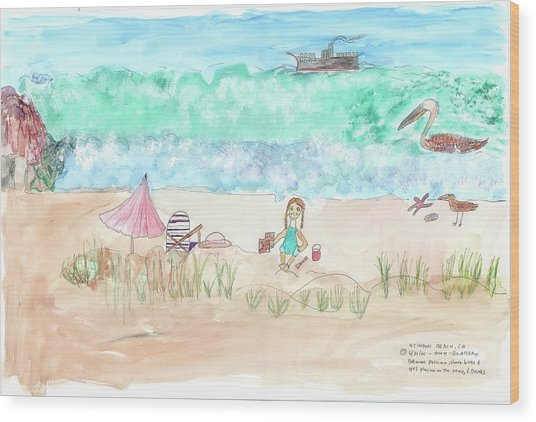 Stinson Beach Wood Print