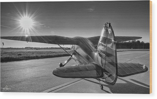 Stinson On The Ramp Wood Print