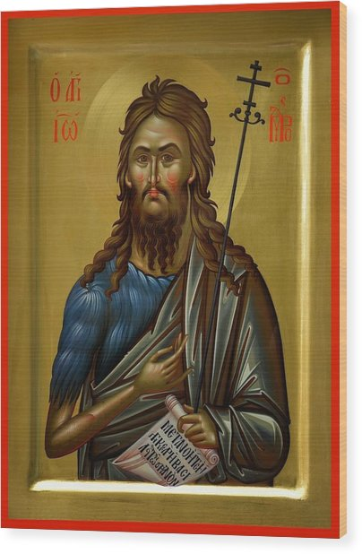 St.john The Baptist Wood Print by Daniel Neculae