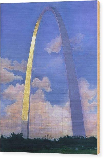 St.louis Gateway Arch Wood Print