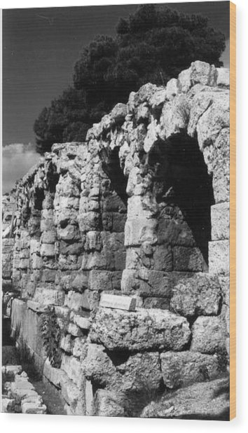 Stoa Of Eumenes Athens Wood Print by Susan Chandler