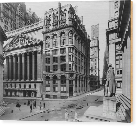 Stock Exchange, C1908 Wood Print