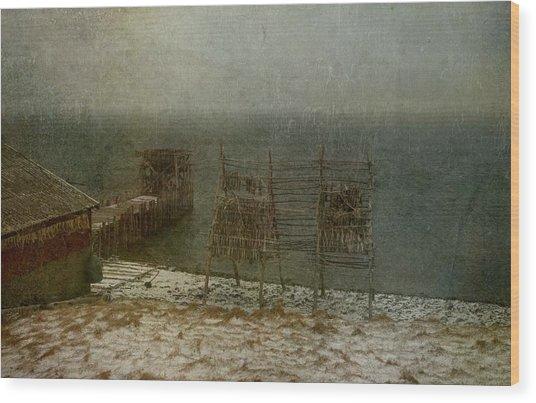 Stockfish Dryers Wood Print
