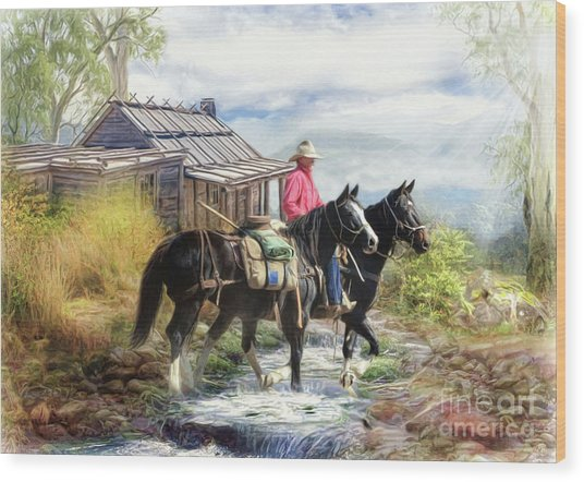 Stockman Of The Snowy Wood Print