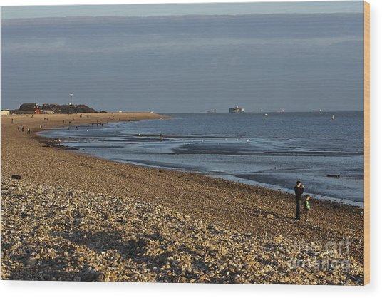 Stokes Bay England Wood Print