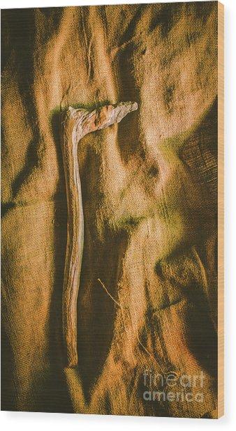 Stone Age Tools Wood Print
